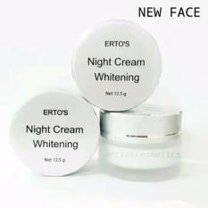 ERTOS Night Cream Whitening Original / Krim Malam Pencerah dan Pelembab