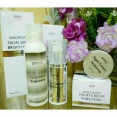 Ertos Paket Whitening (CC CREAM + NIGHT CREAM + FACIAL WASH)