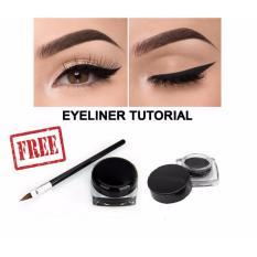 Eyeliner Gel Black 1Pcs + Free Aplicator Kuas