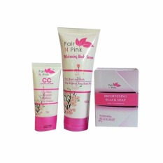 FAIRNPINK PAKET 3IN1 BODY SERUM+CC CREAM + BLACKSOAP ORIGINAL