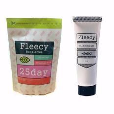 Fleecy Bangle Tea + Fleecy Slimming Gel Original - Paket Pelangsing