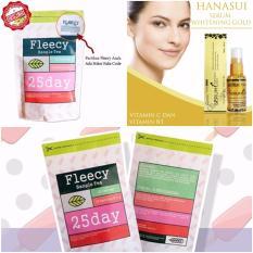 Fleecy Bangle Tea - Slimming Tea Teh Kesehatan Penurun Berat Badan 1 Pcs Gratis Serum Gold Hanasui 1 Pcs