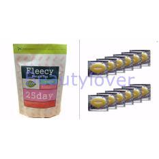 Fleecy Bangle Tea-Slimming Tea-Teh Pelangsing - 1Pcs + Masker Bibir Collagen 10 Sachet