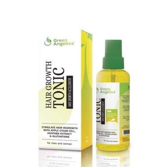 Green Angelica Hair Tonic Penumbuh Rambut Cepat Label BPOM, Obat Botak Alami