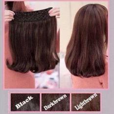 Hairclip Cantik Big Layer 40cm Short Blow - Dark Brown
