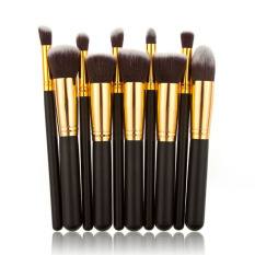 HDL 15 Colors Contour Cream Makeup Concealer Palette 10pcs BrushBlack Golden - intl