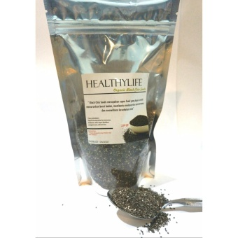 Healthylife organic black chia seeds super food 100% natural 250gr