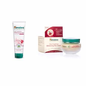 Himalaya Skin Whitening Set - Himalaya Whitening Day Cream 50g & Himalaya Clear Complexion Whitening Face Wash 100ml Paket Combo