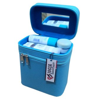 Jogja Craft Box Make Up / Kotak Make Up Beauty Case - Biru Muda