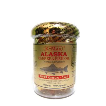 K-Max Alaska Omega 3-6-9 Deep Sea Fish Oil 100's -