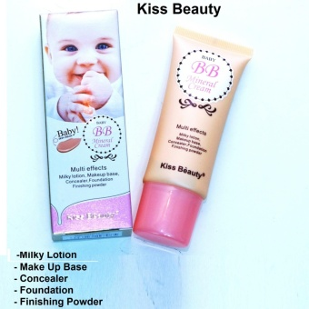 Kiss Beauty BB Mineral Cream/ Baby Skin Cream, Milky Lotion, Make up Base, Concealer, Foundation, Finishing Powder