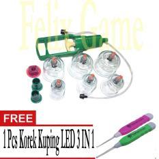 Kop Angin / Alat Bekam Isi 6 Cup +Gratis 1b Pcs Korek kuping LED