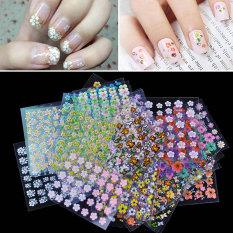La vie 30 buah 3D floral Nail Art desain manikur transfer stiker (aneka warna)