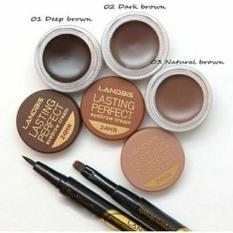 Lanbis No.01Eyebrow Gel & Eyeliner + Brush 3 in1 - DARK BROWN