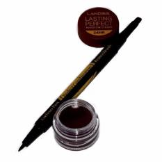 Landbis Eyebrow Gel 3 In 1 Eyeliner & Brush #1 - Deep Brown
