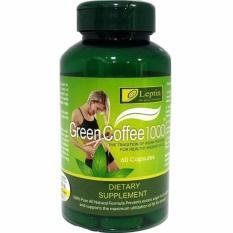 Leptin Green Coffee 1000 Capsule Original Asli Suplemen Diet Antioksidan Bahan Herbal Alami 60 Kapsul Asli Cara Diet Praktis dan Aman Organik Kulit Cerah Sehat Bakar Lemak Tubuh Perut Paha Tangan Pelangsing Ampuh Body Slim Ramping Langsing