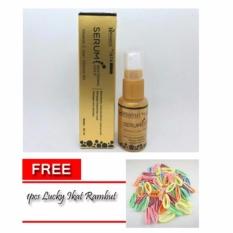 Lucky - Hanasui Cosmetics Serum Whitening Gold - 20 ml + Free 1pcs Lucky Ikat Rambut