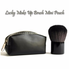 Lucky Make Up Brush Mini Pouch / Kuas Make Up Dompet Kecil / 1Pcs - Black