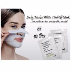 Lucky Masker White | Peel Off Mask | Masker Pemutih Wajah - 10pcs