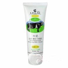 Lyolan Facial Foam Whitening Milk Cleanser / Sabun Pembersih Dan Pencerah Kulit Wajah - 120 Gr