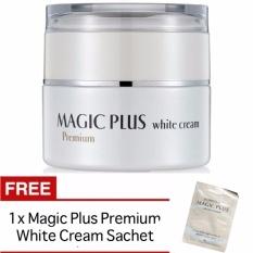 Magic Plus White Cream Premium 35 gr Krim Pemutih Wajah Original Korea Asli Aman Kulit Halus Lembut Kencang Cerah Segar Alami Menyamarkan Noda dan Flek Hitam FREE 1 Sachet Magic Plus White Cream