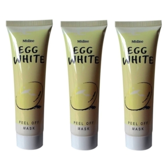 Mask Egg White Peel Off Masker Putih Telur - 3 Pcs