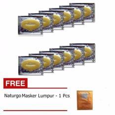 Masker Bibir - Collagen Lip Mask - 10 Pcs + Gratis Naturgo Masker Lumpur - 1 Pcs