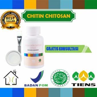 Masker Chitin Chitosan Herbal Tiens 25 Kapsul (Obat Jerawat) (Free Kuas + Plate