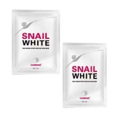 Masker Snail White - Masker Pemutih Wajah - 30 mL - 2 Pcs