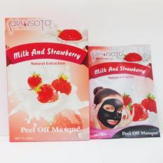 Masker Wajah/Peel Off Mask Qiansoto Strawberry isi 1