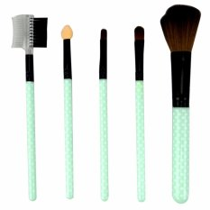 Mesh Kuas Mika isi 5 Make Up Tools - Brush Set 5 pcs All In One