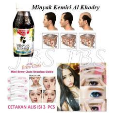 Minyak Kemiri Al Khodry - Penumbuh Rambut - 125mL - Mini Cetakan Alis Brow Class -
