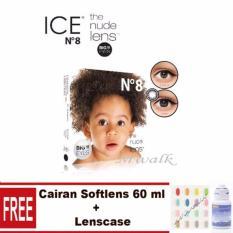 Mwalk Ice Nude N8 Softlens – Black Gratis Lenscase + Cairan 60 ml