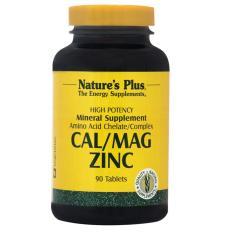 Nature's Plus Cal/Mag Zinc 60's - CalMagZinc - Cal Mag ZInc - Calcium, Kalsium Tulang, Mencegah Osteoporosis, Kram Otot