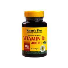 Nature's Plus Vitamin D3 400 IU 90's - Calcium, Kalsium, Mencegah Pengapuran, Osteoporosis, Thyroid, Meningkatkan Imunitas, Kram Otot