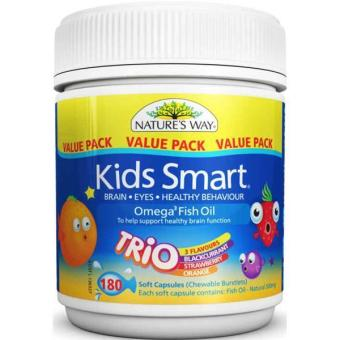 Nature's Way Kids Smart - Omega 3 Fish Oil Trio - 180 Kapsul