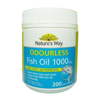 Natures Way Minyak Ikan Natures Way Odourless Fish Oil 1000 mg -200 Kapsul