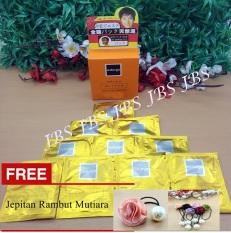 Naturgo - Masker Lumpur untuk Wajah Isi 10 Sachet + Jepitan Rambut Mutiara