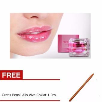 Masker Bibir Gold Collagen Lip Mask 10 Pcs. Nenhong Pemerah Bibir &