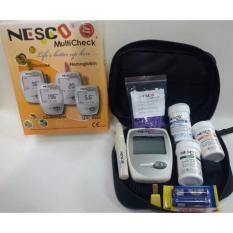 Nesco Multicheck GCU Alat Tes Alat Cek Kolesterol Asam Urat Gula Darah 3in1