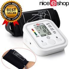 niceEshop Tekanan Darah Monitor LCD lengan detak jantung rumah Sphgmomanometer, putih - Intl