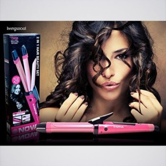 Nova Catok Pelurus Pengriting Rambut 2 in1 Hair Straightener Curly 5 Level Panas
