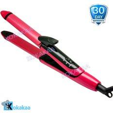 Nova Mini Catokan Lurus & Keriting 2 in 1 - Pink