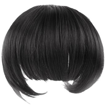 Poni Depan Bando Yang Rapi Dengan Pinggiran Rambut Wig RambutEkstensi Penuh Potongan Rambut Poni Ring