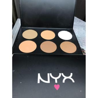 Poudre NYX - Powder 6in1 /Pdwder Contour Kit Shading Cream BigPalette