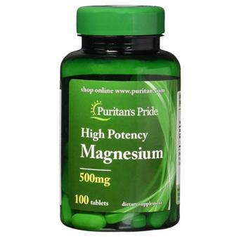 Puritan's Pride High Potency Magnesium Tablets, 500 mg 100 Capsules