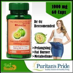 Puritan's Pride Garcinia Cambogia 1000 mg 60 Vege Kapsul Pelangsing