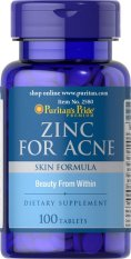 Puritan's Pride Zinc for Acne Mengatasi Jerawat - 100 tablet