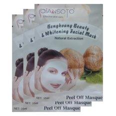 Qiansoto Masker Wajah Alami Bengkoang 3pcs