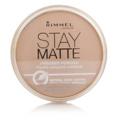 Rimmel Stay Matte Pressed Powder Original Tahan Lama Bedak Padat Asli Samarkan Noda Face Wajah Segar Cantik Bersinar Bebas Kilap Makeup Rias Lembut Ringan - Transparent